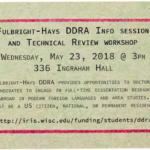 Fulbright-Hays DDRA